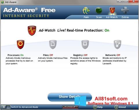 Petikan skrin Ad-Aware untuk Windows 8.1