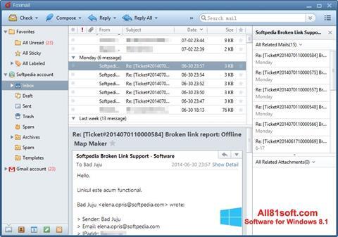 Petikan skrin FoxMail untuk Windows 8.1
