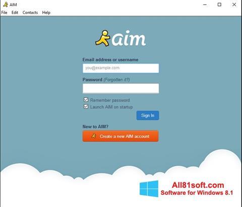 Petikan skrin AOL Instant Messenger untuk Windows 8.1