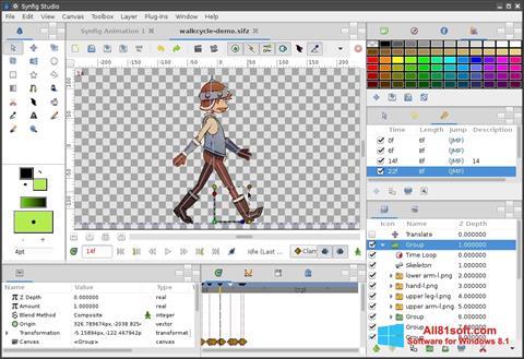 Petikan skrin Synfig Studio untuk Windows 8.1
