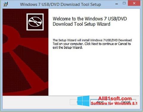 Petikan skrin Windows 7 USB DVD Download Tool untuk Windows 8.1