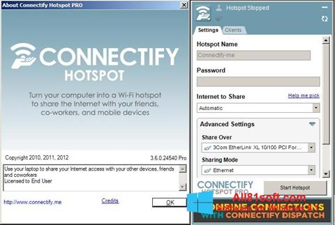 Petikan skrin Connectify untuk Windows 8.1