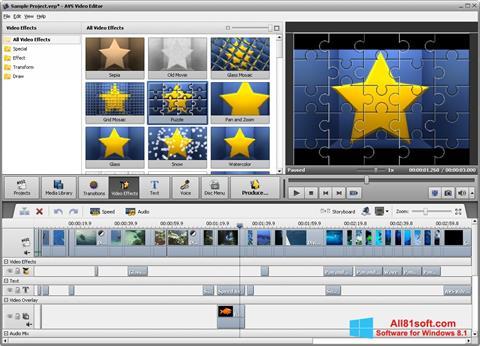 Petikan skrin AVS Video Editor untuk Windows 8.1
