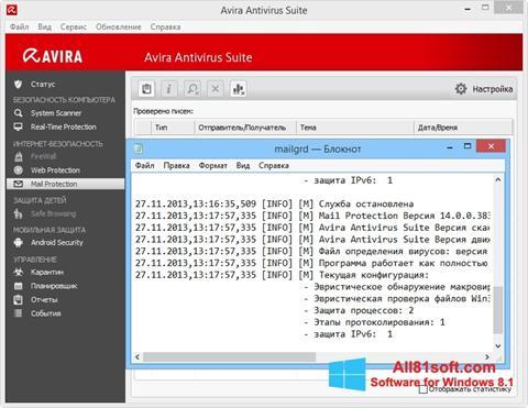 Petikan skrin Avira untuk Windows 8.1