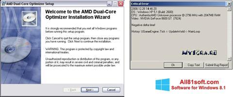 Petikan skrin AMD Dual Core Optimizer untuk Windows 8.1
