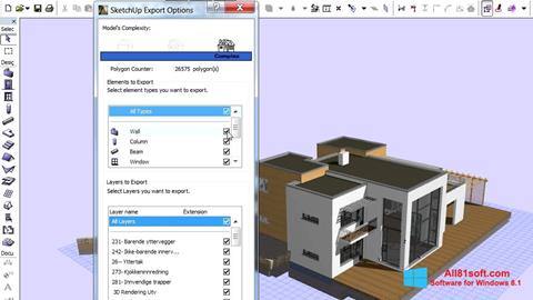 Petikan skrin ArchiCAD untuk Windows 8.1