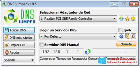 Petikan skrin DNS Jumper untuk Windows 8.1