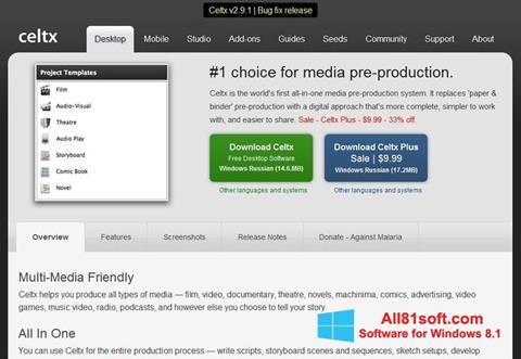 Petikan skrin Celtx untuk Windows 8.1