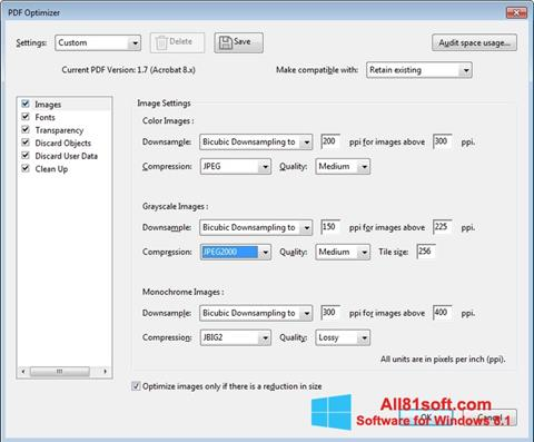 Petikan skrin Adobe Acrobat Pro DC untuk Windows 8.1