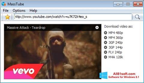 Petikan skrin MassTube untuk Windows 8.1