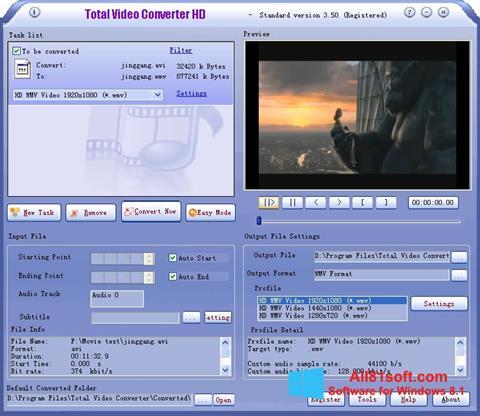 Petikan skrin Total Video Converter untuk Windows 8.1