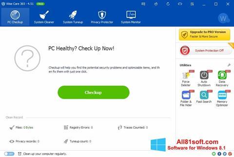 Petikan skrin Wise Care 365 untuk Windows 8.1