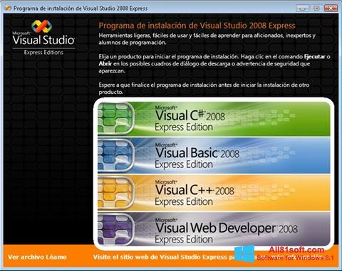 Petikan skrin Microsoft Visual Studio untuk Windows 8.1