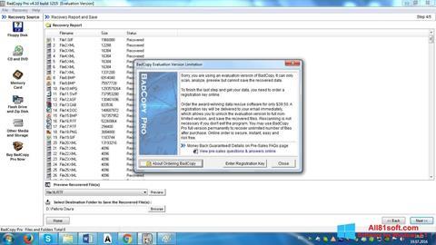 Petikan skrin BadCopy Pro untuk Windows 8.1