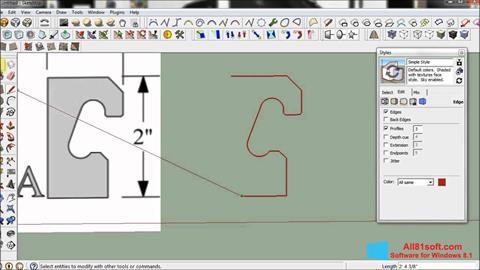 Petikan skrin SketchUp untuk Windows 8.1