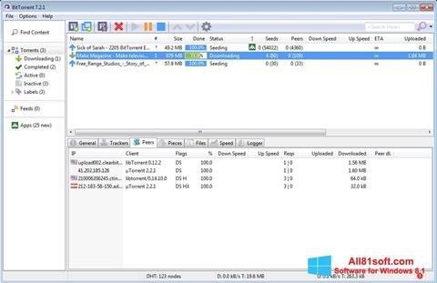 Petikan skrin BitTorrent untuk Windows 8.1
