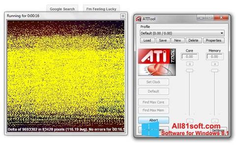 Petikan skrin ATITool untuk Windows 8.1