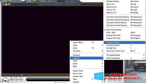 Petikan skrin GOM Player untuk Windows 8.1