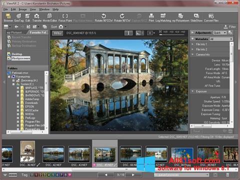 Petikan skrin ViewNX untuk Windows 8.1