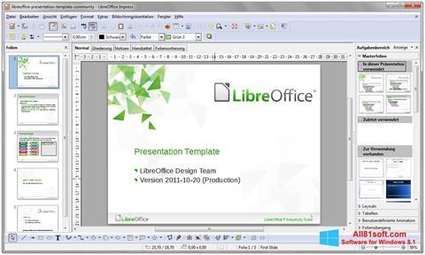 Petikan skrin LibreOffice untuk Windows 8.1