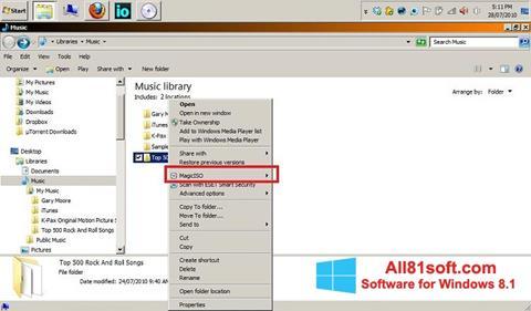 Petikan skrin MagicISO untuk Windows 8.1