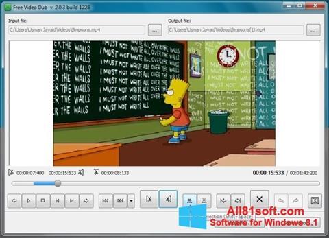 Petikan skrin Free Video Dub untuk Windows 8.1