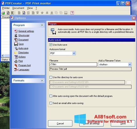 Petikan skrin PDFCreator untuk Windows 8.1