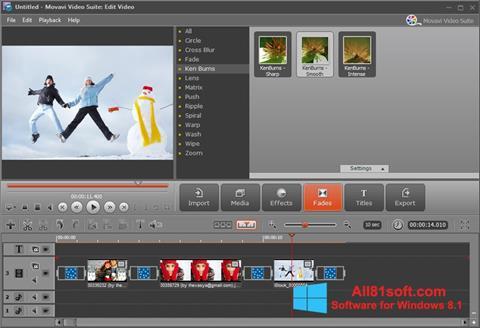 Petikan skrin Movavi Video Suite untuk Windows 8.1