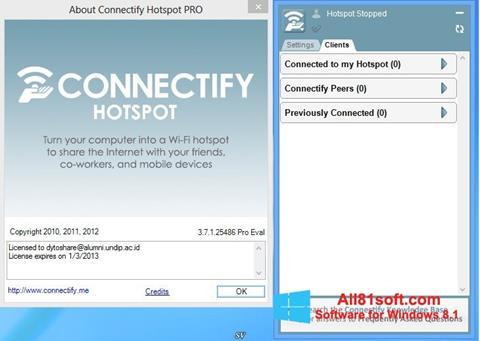 Petikan skrin Connectify Hotspot untuk Windows 8.1