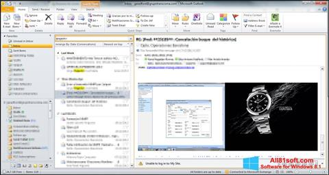 Petikan skrin Microsoft Outlook untuk Windows 8.1