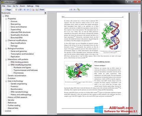 Petikan skrin Sumatra PDF untuk Windows 8.1