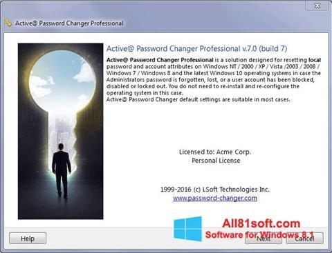 Petikan skrin Active Password Changer untuk Windows 8.1