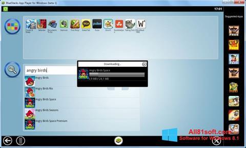 Petikan skrin BlueStacks untuk Windows 8.1