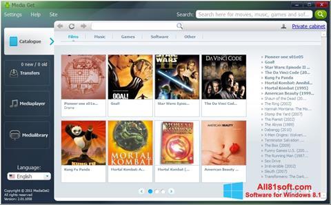 Petikan skrin MediaGet untuk Windows 8.1