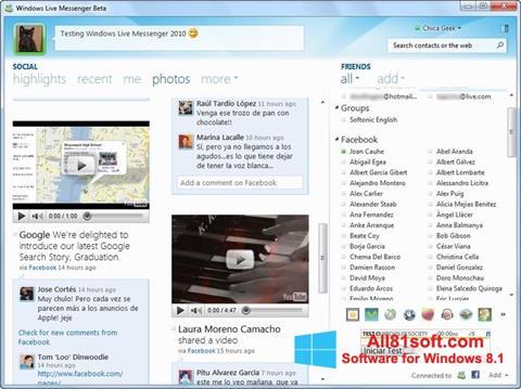 Petikan skrin Windows Live Messenger untuk Windows 8.1
