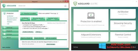 Petikan skrin Adguard untuk Windows 8.1