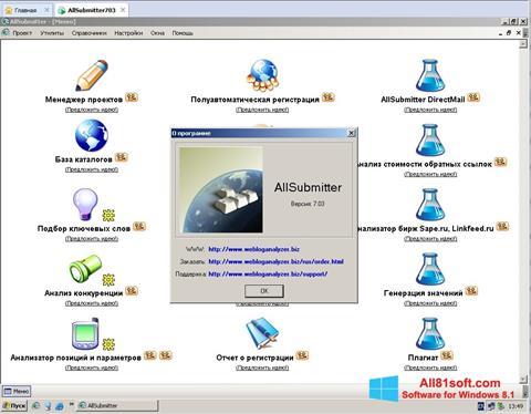 Petikan skrin AllSubmitter untuk Windows 8.1