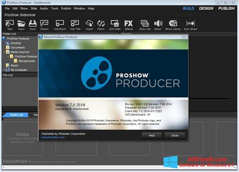 Petikan skrin ProShow Producer untuk Windows 8.1