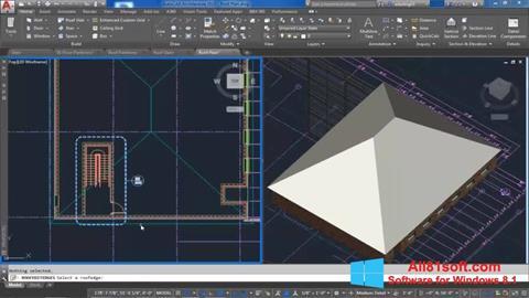Petikan skrin AutoCAD Architecture untuk Windows 8.1