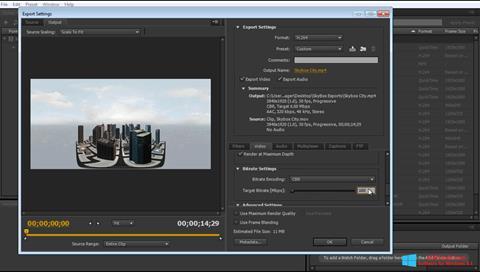 Petikan skrin Adobe Media Encoder untuk Windows 8.1