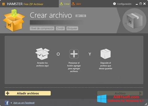 Petikan skrin Hamster Free ZIP Archiver untuk Windows 8.1