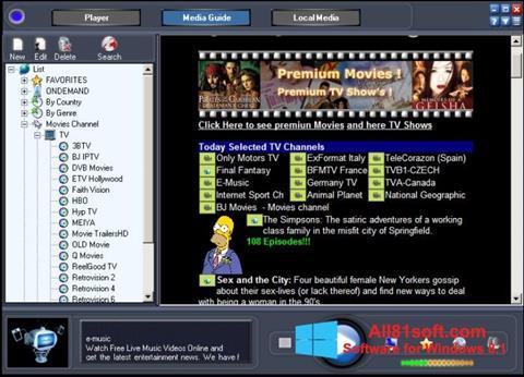 Petikan skrin Online TV Live untuk Windows 8.1