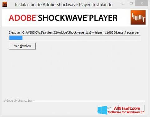 Petikan skrin Adobe Shockwave Player untuk Windows 8.1