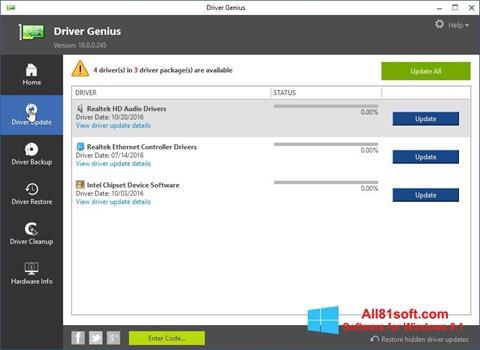 Petikan skrin Driver Genius untuk Windows 8.1