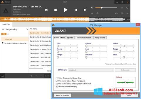 Petikan skrin AIMP untuk Windows 8.1