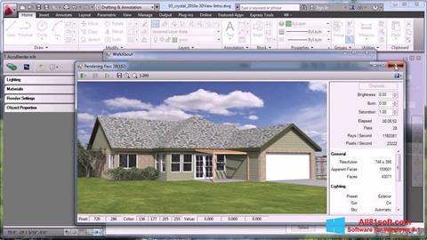 Petikan skrin AutoCAD untuk Windows 8.1