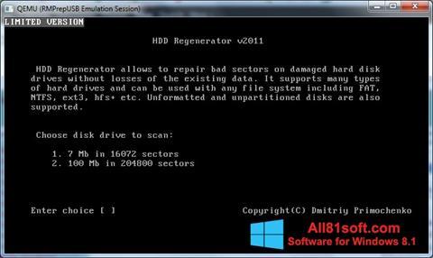 Petikan skrin HDD Regenerator untuk Windows 8.1