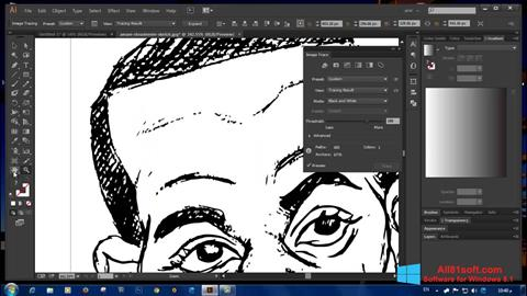 Petikan skrin Adobe Illustrator CC untuk Windows 8.1