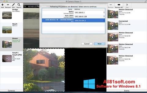 Petikan skrin IP Camera Viewer untuk Windows 8.1