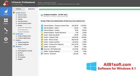 Petikan skrin CCleaner Professional Plus untuk Windows 8.1